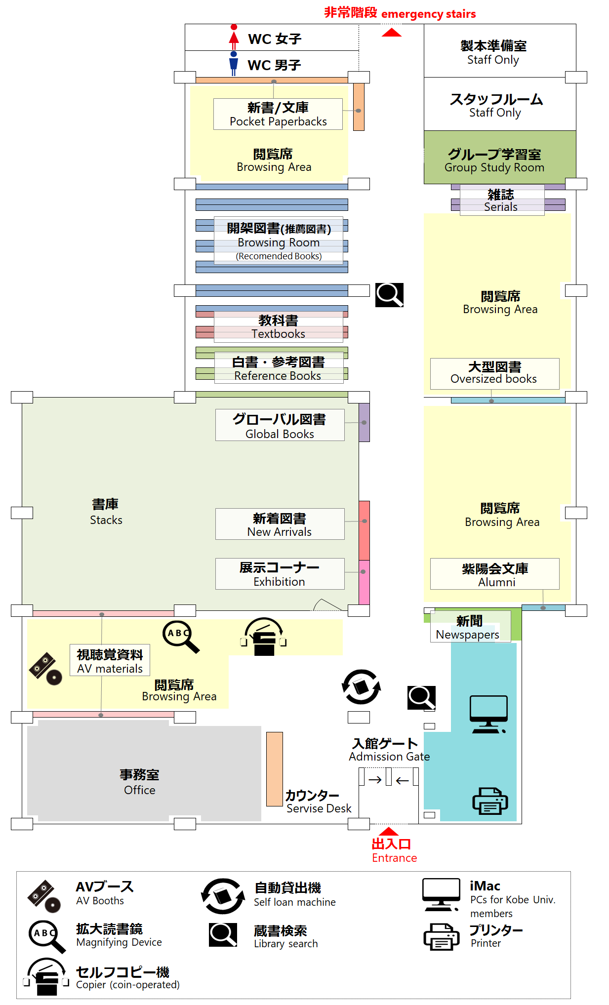 Floor Map of the Library for Human Development Sciences